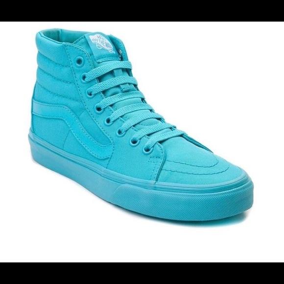 Vans Shoes | Vans Neon Blue High Tops